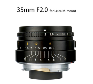 Image 2 - 7 אומנים 35mm F2 גדול צמצם הפרקסיאלית M הר עדשה עבור לייקה מצלמות M M M240 M3 M5 M6 m7 M8 M9 M9P M10 עדשה 35 2