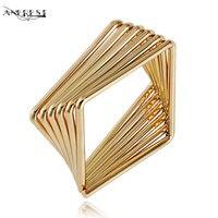 Fashion Women Man Unisex Dubai Gold Jewellery Ring Geometric Hip Hop Turkish Jewelry Accessories Jewellery Designer