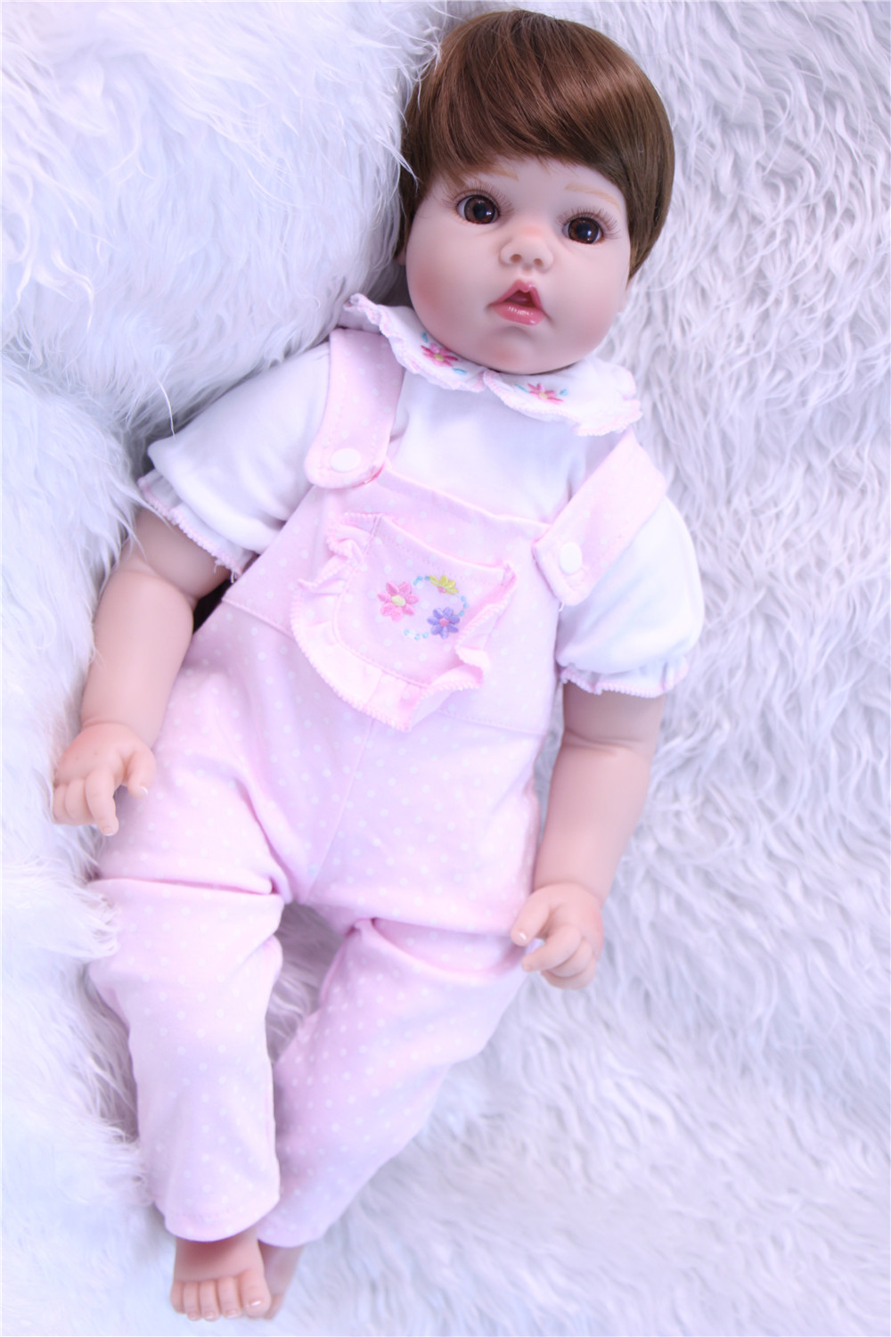 20girl doll reborn soft touch silicone reborn babies brown hair wig children doll gift bebe alive reborn bonecas20girl doll reborn soft touch silicone reborn babies brown hair wig children doll gift bebe alive reborn bonecas