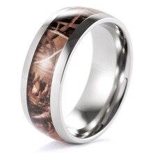 Shardon clásico redondo titanium realtree ap camo huntering anillos anel anillos anillo de bodas anillo de los hombres al aire libre