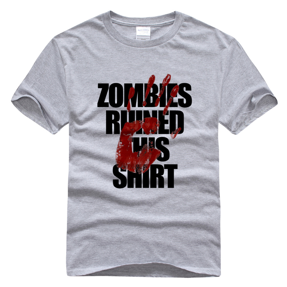 Zombies Ruined This Shirt for Men Printed Short Sleeve Tee ...