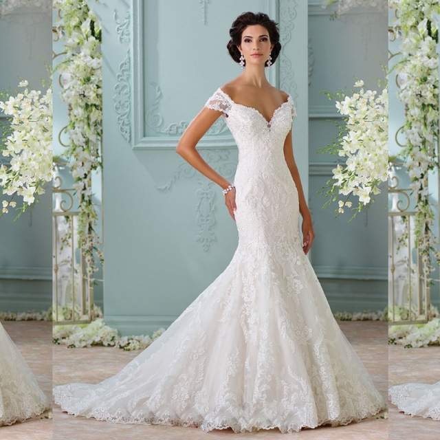 Vestidos De Novia 2017 Elegant Lace Mermaid Wedding Dresses China ...