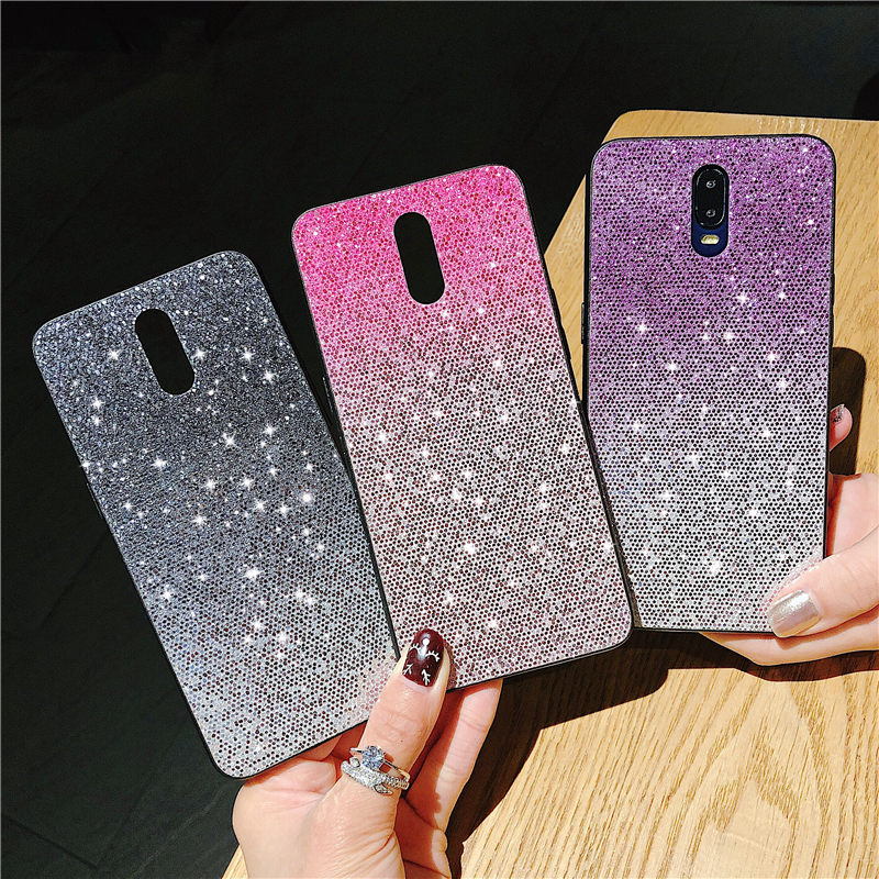 Phone Case For OPPO R9 R9S R11 R11S Plus F5 F7 F9 A5 A7 A77 A79 A83 A71 A73 Sequin Gradient Bling Glitter Silicone Soft Cover