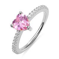 AILIN Women Rings Personalized Ring Heart Birthstone Rings for Women