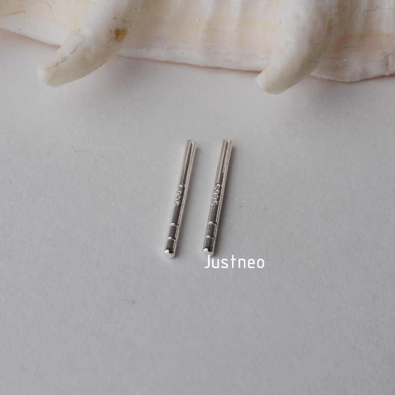 Solid 925 Sterling Silver Anting-Anting Giwang Telinga Post Batang Temuan, 1 Pasang