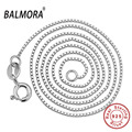 BALMORA 100% real pure 925 sterling silver jewelry chokers necklaces for women pendants accessories silver chains MC001