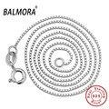 Balmora 100% real pura plata esterlina 925 joyería gargantillas collares para las mujeres colgantes accesorios de plata cadenas mc001