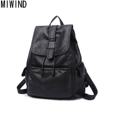 2017 Women Backpacks Vintage Pu Leather Famous Brand Black Softback Shoulder Bag For teenager Girls Lady Travel bag TKN11532017 Women Backpacks Vintage Pu Leather Famous Brand Black Softback Shoulder Bag For teenager Girls Lady Travel bag TKN1153