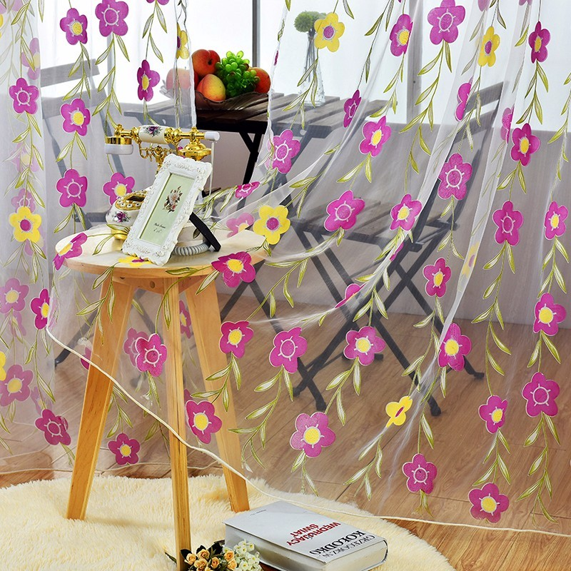 floral tulle sheer curtain (15)