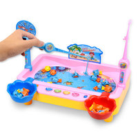 Hunting Ducks Game Electric Toy Musical Fishing Game Angling Swimming Fish Magnetic Early Learning Fishing Toys
