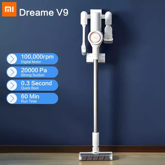 2019 xiaomi dreame v9 vacuum cleaner handheld cordless stick aspirator vacuum cleaners 20000pa. Black Bedroom Furniture Sets. Home Design Ideas