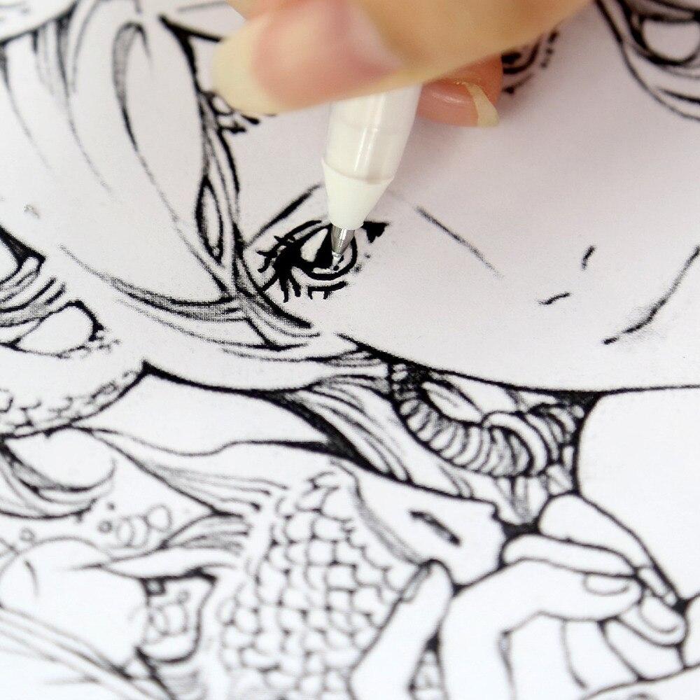 Touchnew 0 8mm titik halus spidol grafiti pena di atas kertas hitam putih tinta spidol untuk menggambar manga sebaik sakura stabilo di seni spidol dari