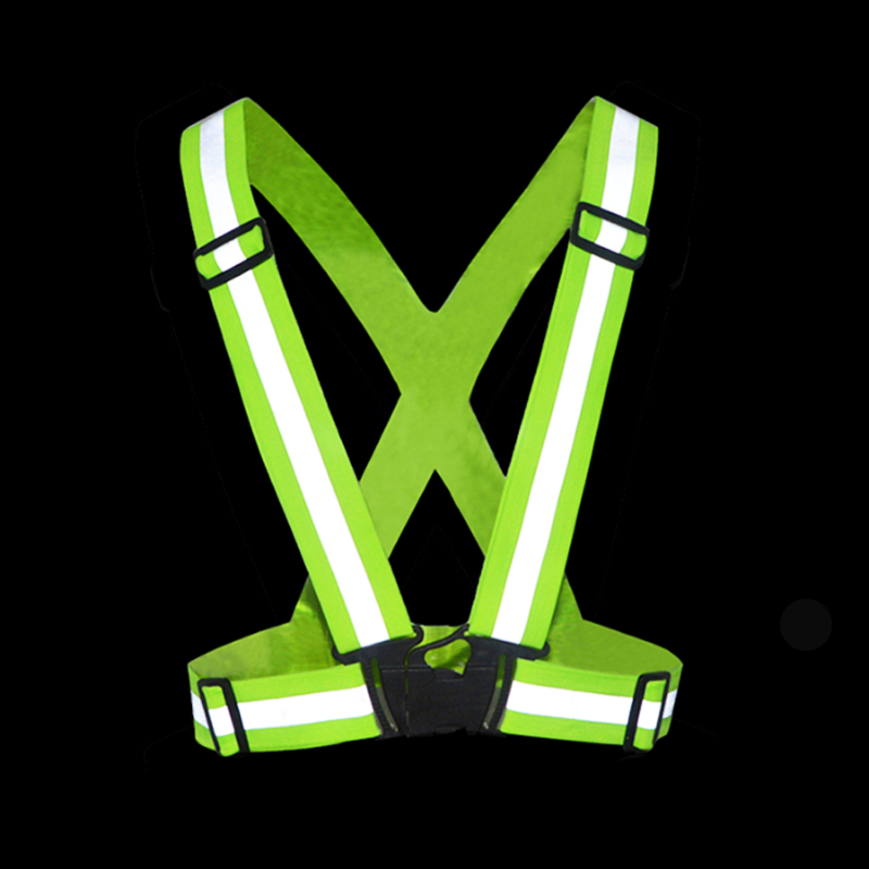10PCS High Visibility Unisex Outdoor Safety Vest Reflective Belt Safety Vest Fit For Running Cycling Sports