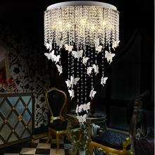 Роскошный круглый кристалл k9, современная люстра, светодиодный светильник с кристаллами, современный светодиодный, креативный, простой, Круглый, для ресторана, люстры
