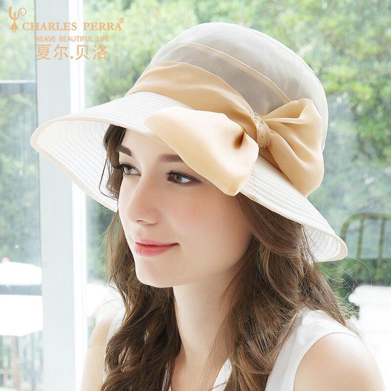 Nouveau printemps été chapeau de soleil femmes élégant soie parasol chapeaux Version coréenne vacances plage visière casquette fille haute couture casquettes H6658
