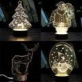 3D criativo Luz Noite Candeeiro de Mesa Transparente Elegante 5 Estilos Wireframe LED Árvore De Natal Dos Cervos Sala Mesa Decoração Presente de Aniversário