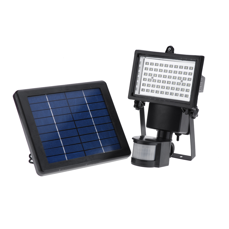 ФОТО 60 LED Solar Motion Activated Flood Light Security Outdoors Waterproof Set