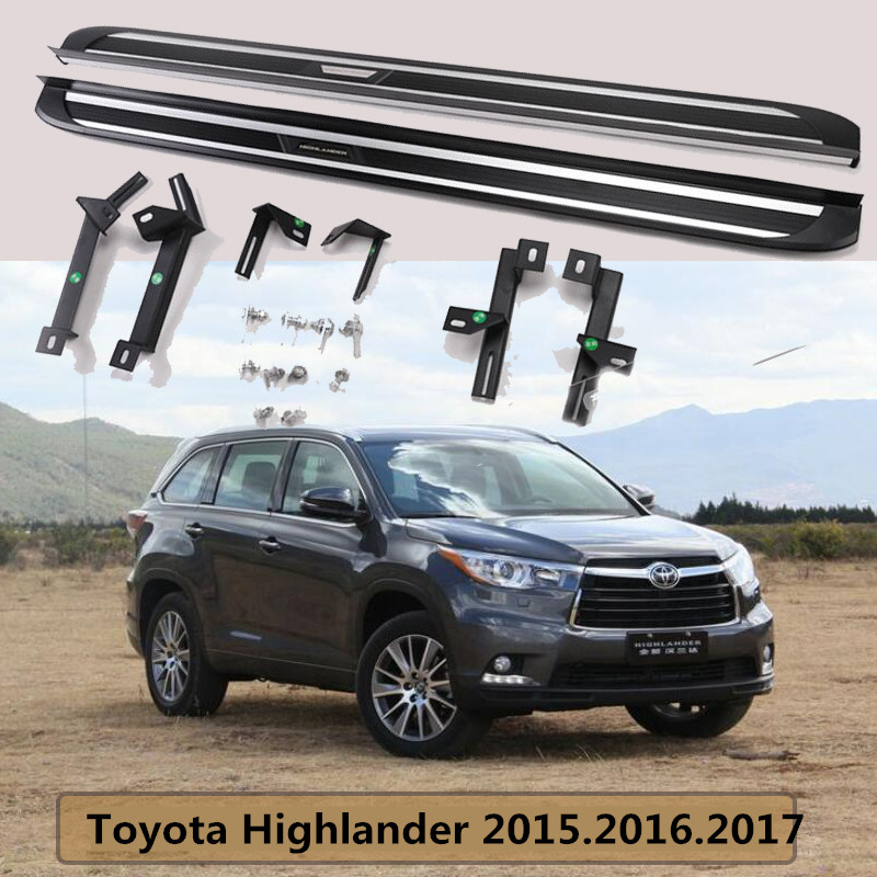 For Toyota Highlander 2015.2016.2017 Running Boards Auto Side Step Bar Pedals High Quality Brand New European Design Nerf Bars