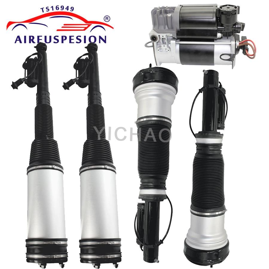 1 set 5pcs for mercedes Benz W220 air suspension shock air strut and compressor pump S320