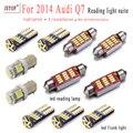 11piece /set For 2014 Audi Q7 reading light led 41mm canbus W5W 36mm Interior Light 12V festoon Trunk light c5w T10 reading lamp