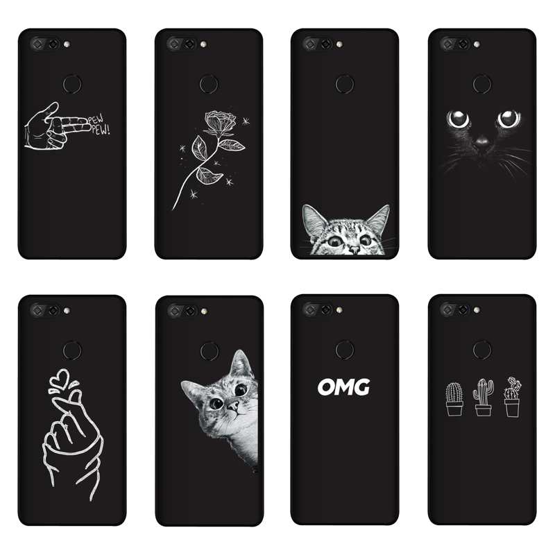 Qaqsam Case Cover Flower Phone-Cases Zte Blade Soft-Silicone for V9 Painting-Pattern