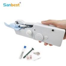 Мини Портативная ручная электрическая швейная машина для шитья, рукоделия, беспроводная одежда, ткани, швейная машина, набор для шитья, сделай сам FL00001