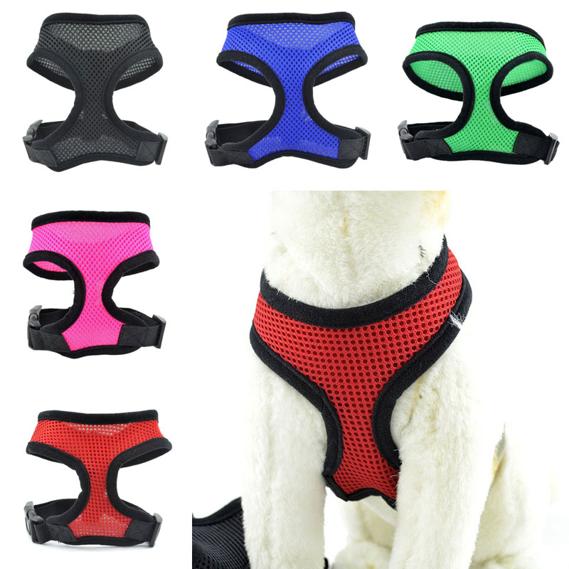 Dog Fashion Mesh Cloth Collar Hot Cat Puppy Pet Vest Wire Nylon Harness Leash LBShipping