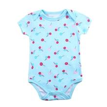 Fantasia Baby Bodysuit Infant Jumpsuit Overall Short Sleeve Body Suit Clothing Set Summer Cotton