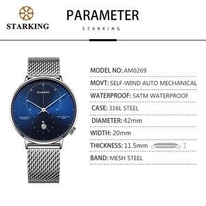 Image 3 - STARKING montre automatique Relogio Masculino auto vent 28800 Beats mouvement mécanique montre bracelet hommes en acier mâle horloge 5ATM AM0269