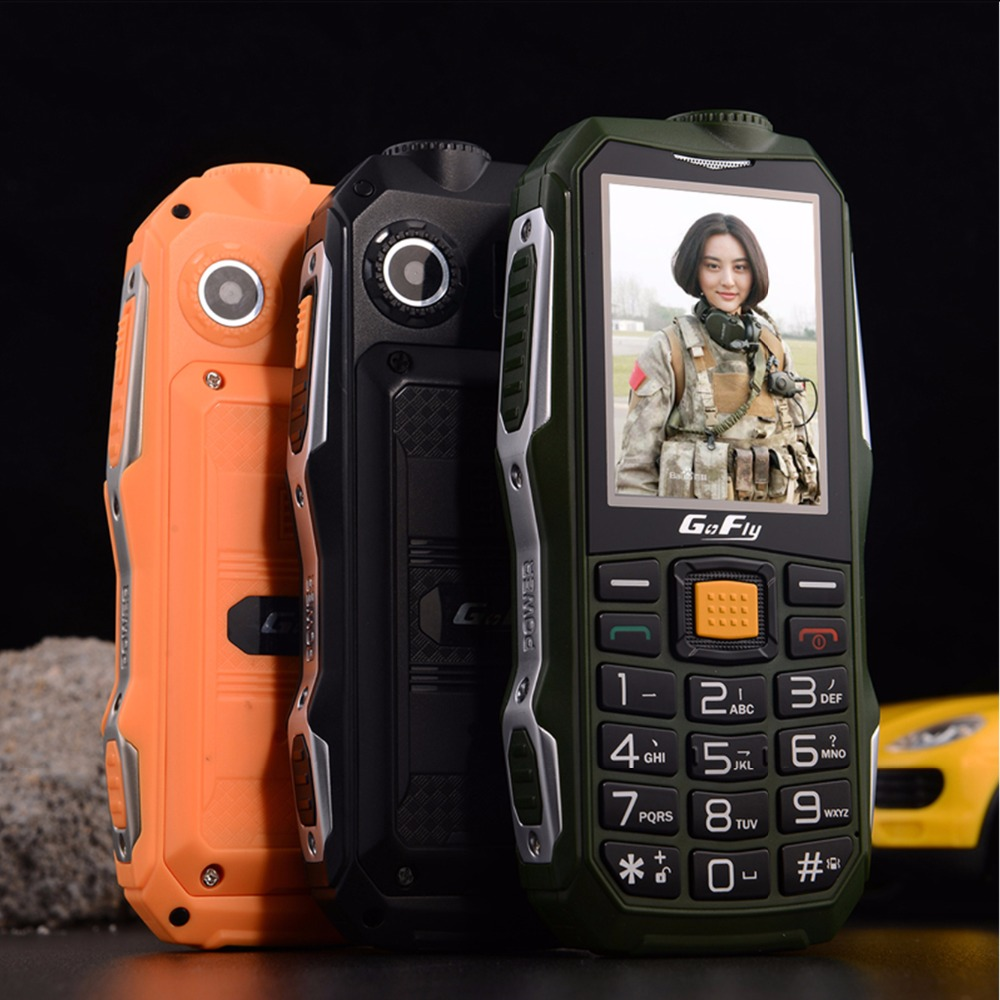 Gofly F7000 Shockproof Rugged Outdoor Senior Mobile Phone Loud Sound Torch FM Long Standby Power bank Bluetooth SOS Speed Dial image