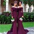Modest Purple Long Bridesmaid Dress Long Lace Greek Bridesmaid Gowns Women Formal Gowns Middle East Saudi Arabia Long Dresses