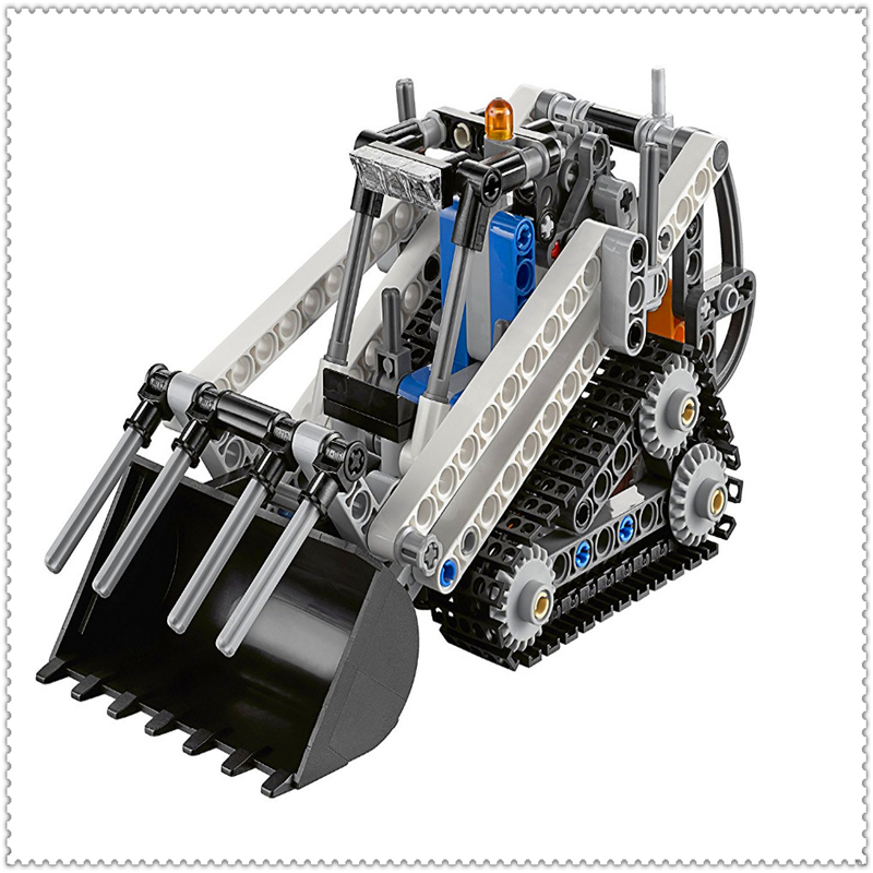 252Pcs Technic City Series 2 In 1 Compact Loader Building Block Toys LELE 38023 Educational Gift For Children Compatible Legoe lepin 24021 city creator 3 in 1 island adventures building block 379pcs diy educational toys for children compatible legoe