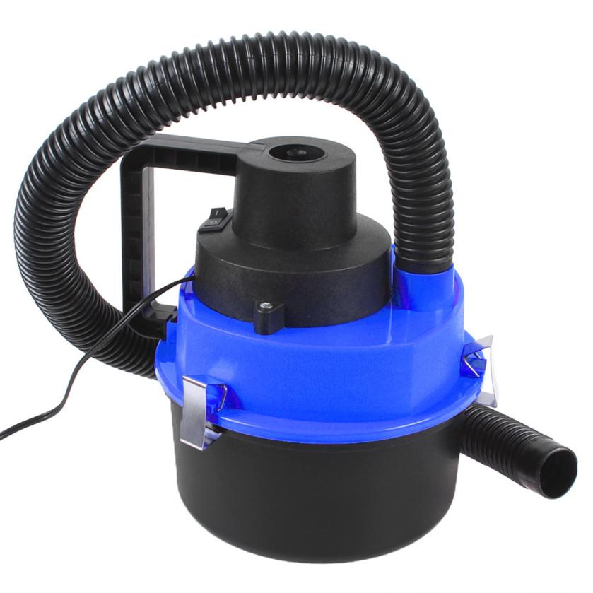 Car Vacuum Cleaner Wet Dry Portable Handheld 12V Rust-Resistant Attached To Car Cigarette Lighter Dark Blue Dropshipping Aug9