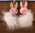 Cute Downy Earring Rabbit Ear Tag