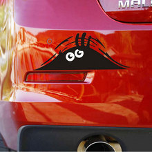 car-styling Cartoon Motorcycle Sticker For peugeot renault  19 * 7 cm Funny Monster Glue Car Stickers For Ford Opel VW kia golf