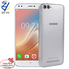 Stock DOOGEE X30 Smartphone 4 Cameras MTK6580A Quad Core 2x8.0MP+2x5.0MP Android 7.0 2GB RAM 16GB ROM IPS Screen 3G Cellphone(China)
