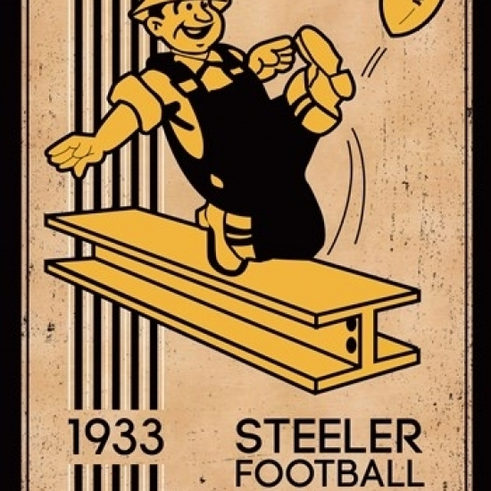 Pittsburgh Steelers – Retro Logo 14 Laminated Poster Print (22 x 34)