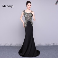 elegant real long evening dress 2018 fashion applique beaded mermaid women pageant gown for formal prom party vestido de festa