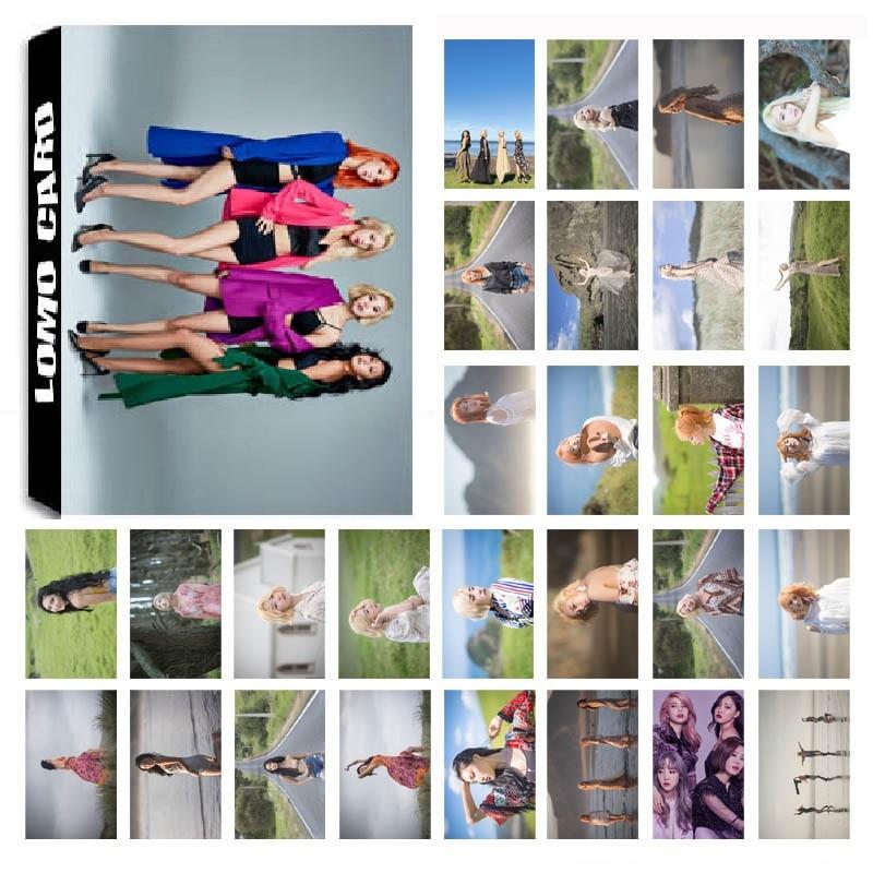 1 Box 30 Teile/satz Kpop Mamamoo Team 02 Album Starry Nacht Hd Foto Karte Pvc Selbst Made Lomo Photocard