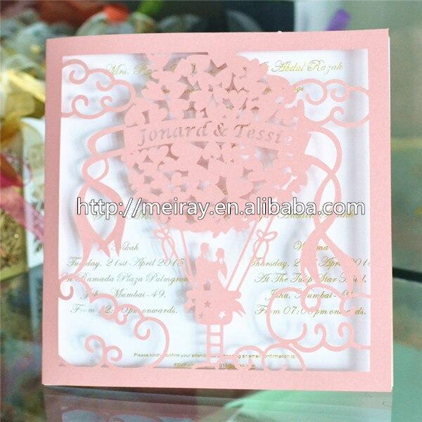 75pcs Lot Wedding Card Design Paper Pink Laser Cut Wedding