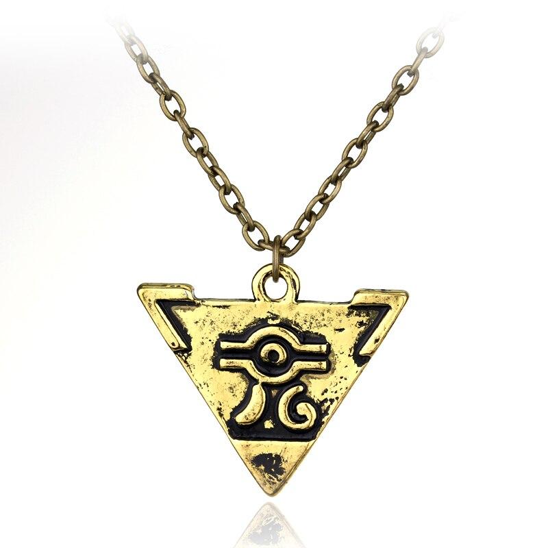 MQCHU Yu-Gi-Oh Necklace Anime Yugioh Millenium Pendant Jewelry Toy Yu Gi Oh Cosplay Pyramid Egyptian Eye Of Horus Necklace