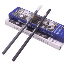 12 Pcs / Box Painting Pencils Carbon Black Refined Carton Packaging Excellent Student Stationery Drawing Pencil