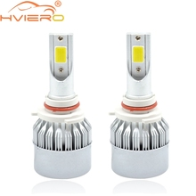 Hiviero Super Bright COB IP65 Car Head lights 9005 HB3 LED 72W 7600lm Auto Front Bulb Automobile Headlamp 6500K Lighting