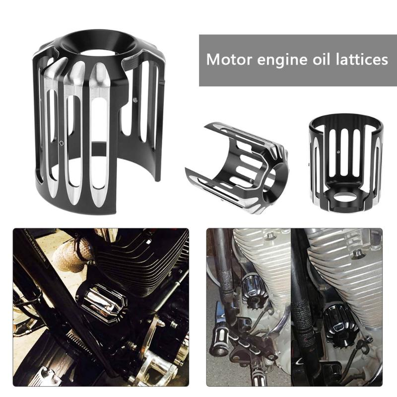 1Pcs New Deep Cut Aluminum Motorcycle Oil Filter Grid Cover with Wrench for Harley Touring Softail Dyna CVO Fatboy Car Styling