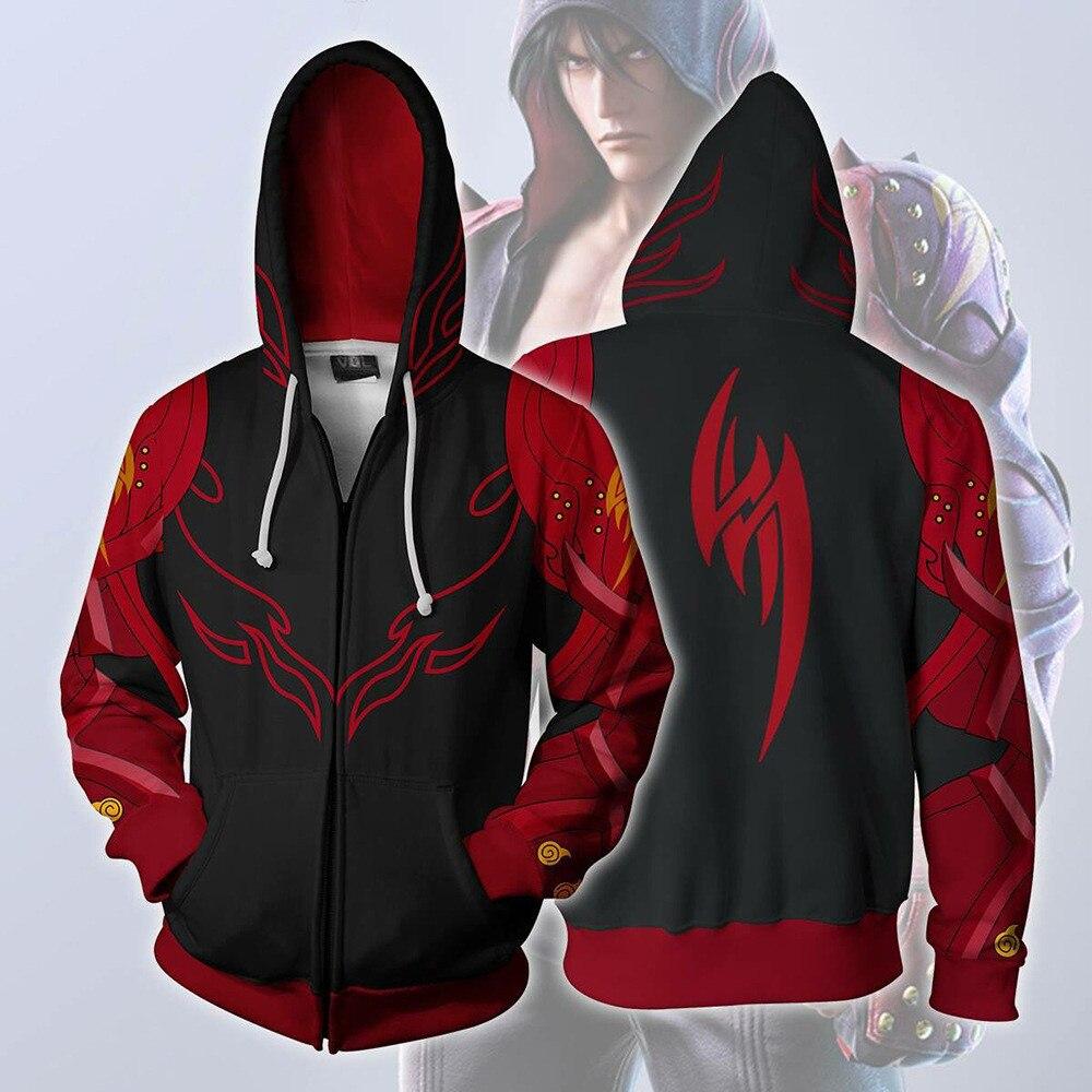 Sweatshirt Hoodies Jacket Coat Game-Tekken Adult Clothing Unisex Top Pullover Zipper