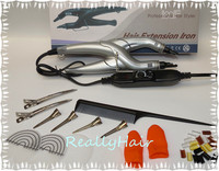Free Shipping Slivery Loof Hair Extension Fusion Iron L 668 Control Hair Extension Tool Kits Only
