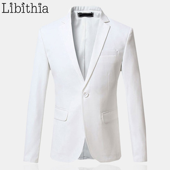 casual Clothing White Single Button Blazers