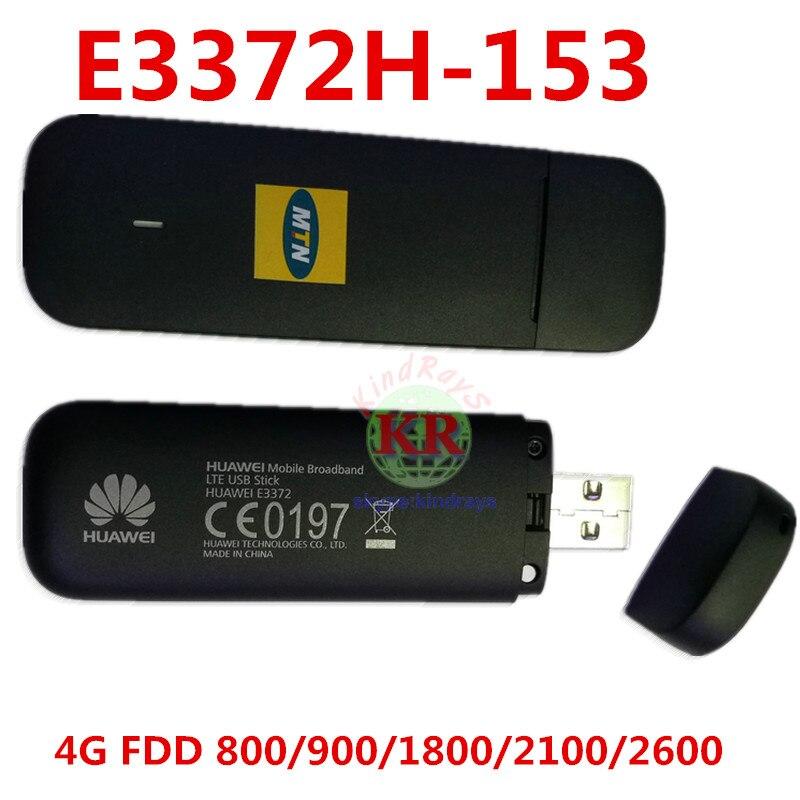 Débloqué Huawei E3372 E3372h-153 4G LTE USB Dongle USB Bâton Datacard Mobile Haut Débit USB Modems 4G Modem LTE Modem