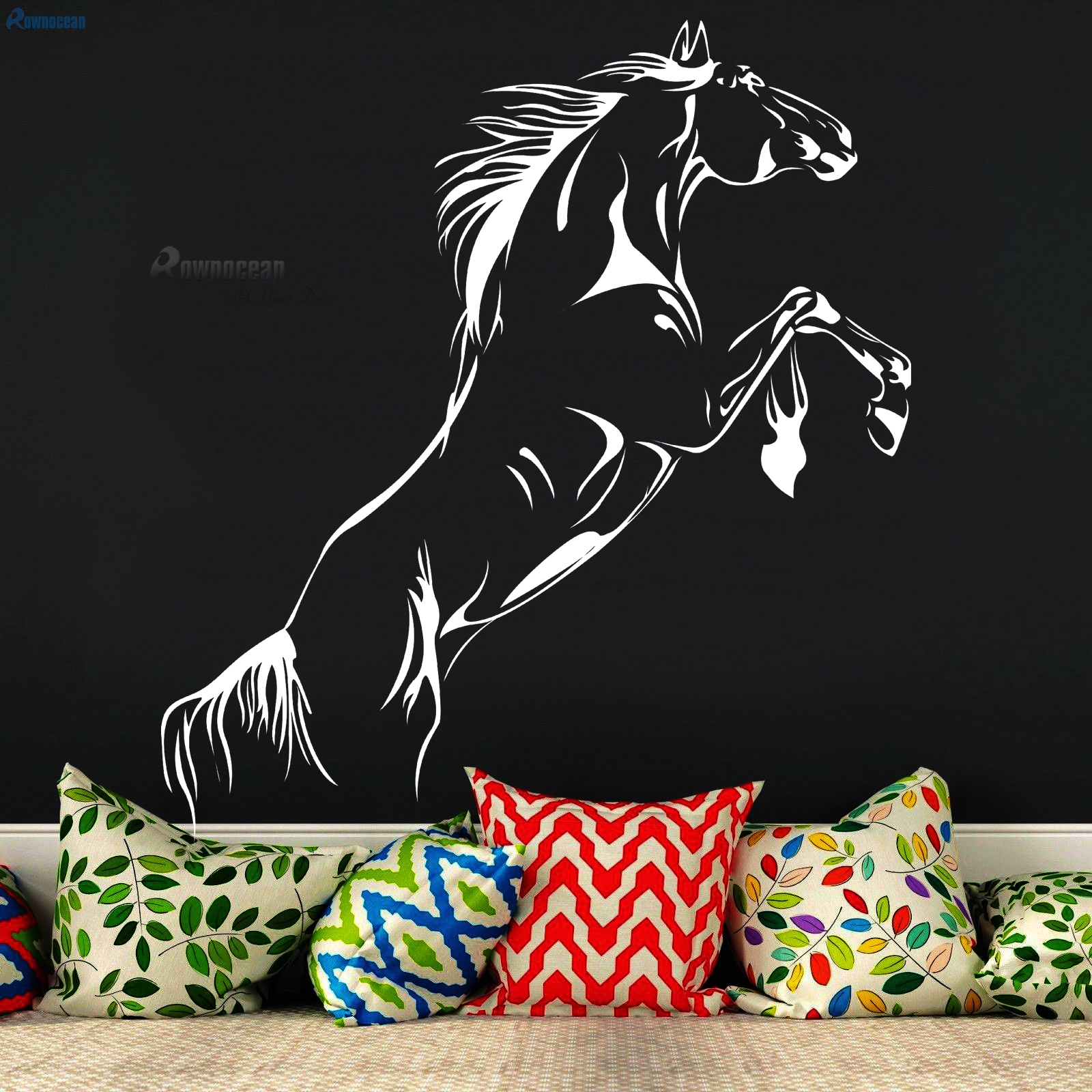 Creative Animals Running Horse Interior Wall Stickers For Kids Rooms Art Home Decor Living Room Vinyl Watertight Removable D-13