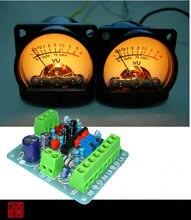 2 pcs Pannello VU Meter Warm Torna La Luce del Livello Audio Amplificatore di Indicare con Un bordo di driver